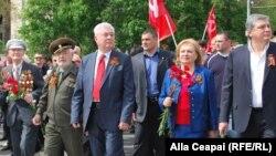 La manifestația comunistă de la Chișinău cu ocazia Zilei Victoriei