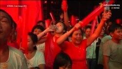 Прихильники опозиції на виборах у М'янмі оточили офіс демократів на знак підтримки (відео)