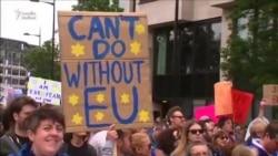 """Minlərlə londonlu """"Brexit"""" əlehinə aksiyaya çıxdı (Şərhsiz)"""