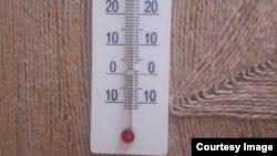 Термометр в одной из квартир Белогорска