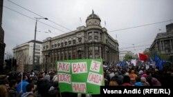 Protest u Beogradu, 8. aprila
