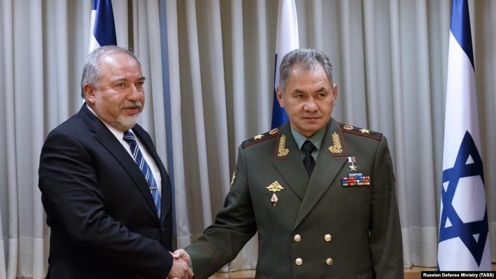 Встреча министров обороны Израиля и России - Авигдора Либермана и Сергея Шойгу