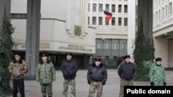 Ukraine -- samooboona in Simferopol, 24Mar2014