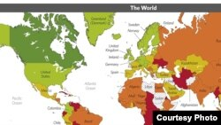 Screenshot of 2014 Index of Economic Freedom