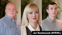 VHJF Class of 2013-2014 (l-r): Ivan Beliaev, Natalya Sedletska, Ilgar Gabidullin