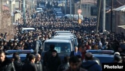 Armenia - The funeral of six members of the Avetisian family in Gyumri, 15Jan2015.
