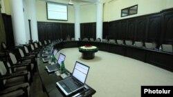 Armenia - The empty cabinet room in Yerevan.