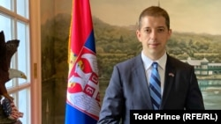 Serbian Ambassador to the United States Marko Djuric at the country's new diplomatic residence in Washington earlier this month.