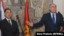 Sastanak ministra spoljnih poslova Milana Roćena i tajlandskog šefa diplomatije Kasita Piromie, 30. avgust 2010.
