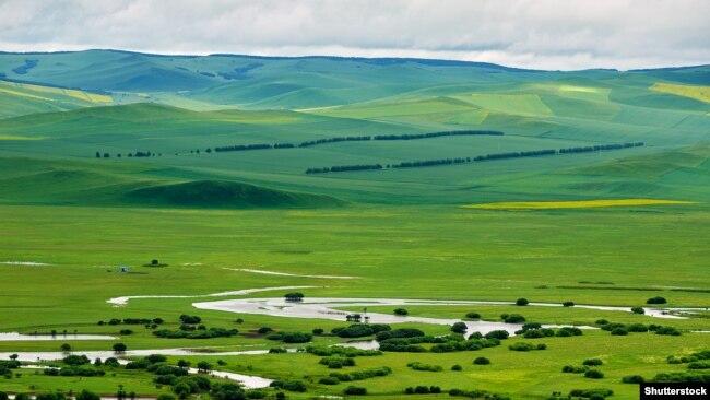 река Аргунь на территории Китая