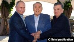 uzbekistan - Mirziyayev, Putin and Nazarbaev