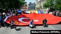 Sarajevo tokom Erdoganove posjete 2015.