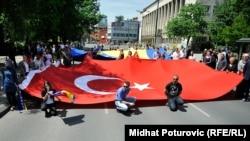 Prizor sa nedavnog dočeka turskog predsjednika Redžepa Tajipa Erdogana Bosni i Hercegovini, Sarajevo, 20. maj 2015.