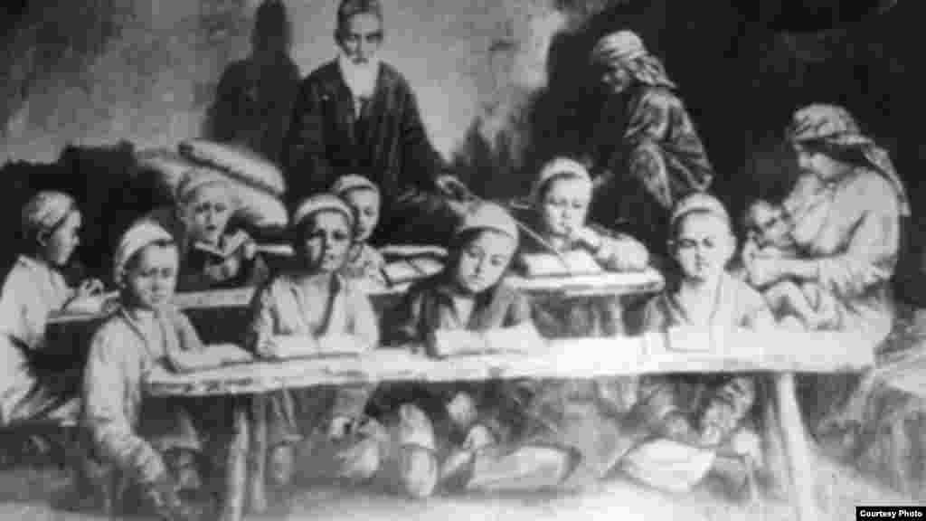Картина Николая Хлудова. Мулла с розгами. Начало 20-го века.