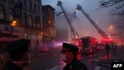 Пожар в Нью-Йорке (иллюстративное фото).