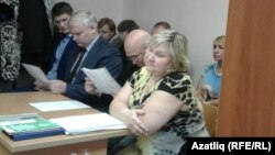 Olga Ziyatdinova appears in the Vakhitov district court on November 3. She says she will appeal the ruling.