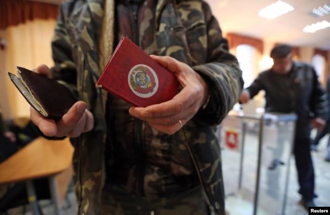 «Референдум» в Крыму, Симферополь, 16 марта 2014 года