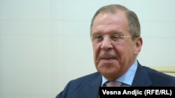 Sergej Lavrov u Beogradu 16. juna 2014.