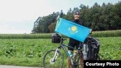 Мировой велотур Магжана Сагимбаева