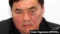 «Журналистер қатерде» қорының президенті Рамазан Есіргепов. Алматы, 10 сәуір 2012 жыл.