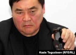 """Рамазан Есергепов, директор прессозащитной организации """"Журналисты в беде"""", председатель комитета """"Жанаозен-2011"""". Алматы, 10 апреля 2012 года."""