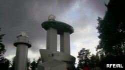 Башни Литовского музея этнокосмологии на сорокаметровой высоте венчает обзорная площадка из стекла и металла
