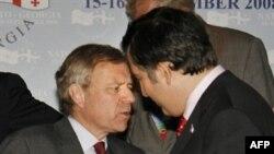 Mikheil Saakashvili i Jaap de Hoop Scheffer u Tbilisiju