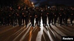 Pamje nga protestat e datës 13 tetor 2013