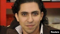 Jailed Saudi blogger Raif Badawi (file photo)