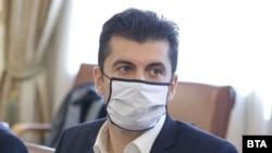 Кирил Петков по време на заседание на правителството на 13 май 2021 г.