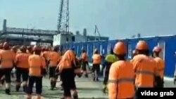 Бунт рабочих на Амурском газоперерабатывающем заводе в Свободном