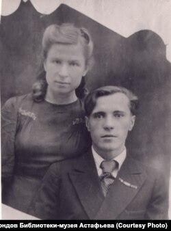 Виктор Астафьев и Мария Корякина. 1950-е гг.