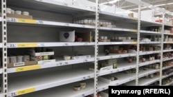 Ситуация в супермаркетах Симферополя в связи с угрозой коронавируса, 17 марта 2020 года