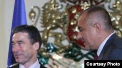 Anders Rasmussen și Boiko Borisov la Sofia