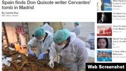 """BBC - """"Ispaniya """"Don Kixot""""un müəllifi Migel de Servantesin qalıqlarını tapdığını elan edir"""""""