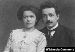 Альберт Эйнштейн и его жена Милева Марич, 1912