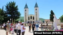 About a million people, many of them pilgrims, visit the Bosnian town of Medjugorje each year (file photo).