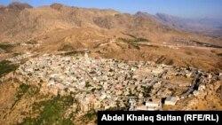 منظر عام لمدينة العمادية التابعة لدهوك