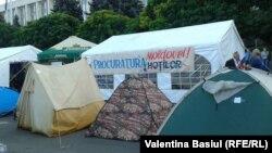 Намети протестувальників у Кишиневі