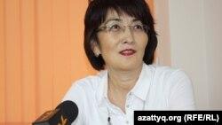 Гражданский активист Бахытжан Торегожина. Алматы, 12 декабря 2013 года.