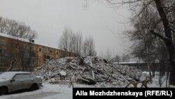 Снос дома в Новокузнецке