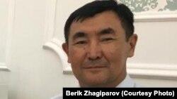 Тогузбай Тажбенов в бытность председателем профсоюза ТОО «Корпорация Казахмыс».