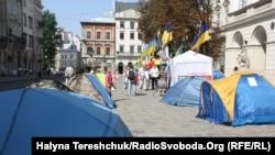 Пікет під львівською ратушею супротивники мовного закону