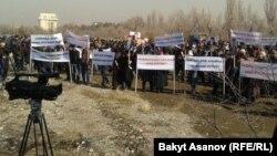 Келдибековдун тарапкерлеринин митинги. Бишкек, 12-март, 2014.