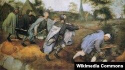 Пітэр Брэйгель Старэйшы, «Прыпавесьць аб сьляпых», (1568).