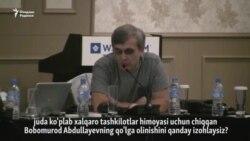 ЕХҲТ анжуманида расмийлар Б.Абдуллаев ҳақидаги саволларни очиқ қолдирди