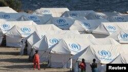 Një kamp migrantësh në Lesbos të Greqisë. 14 shtator 2020.