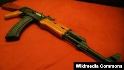 AK-47, Kalashnikov, the most famous assault rifle in the world.