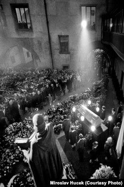 Похороны Яна Палаха в Праге