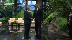 Raul Castro Greets Obama In Havana